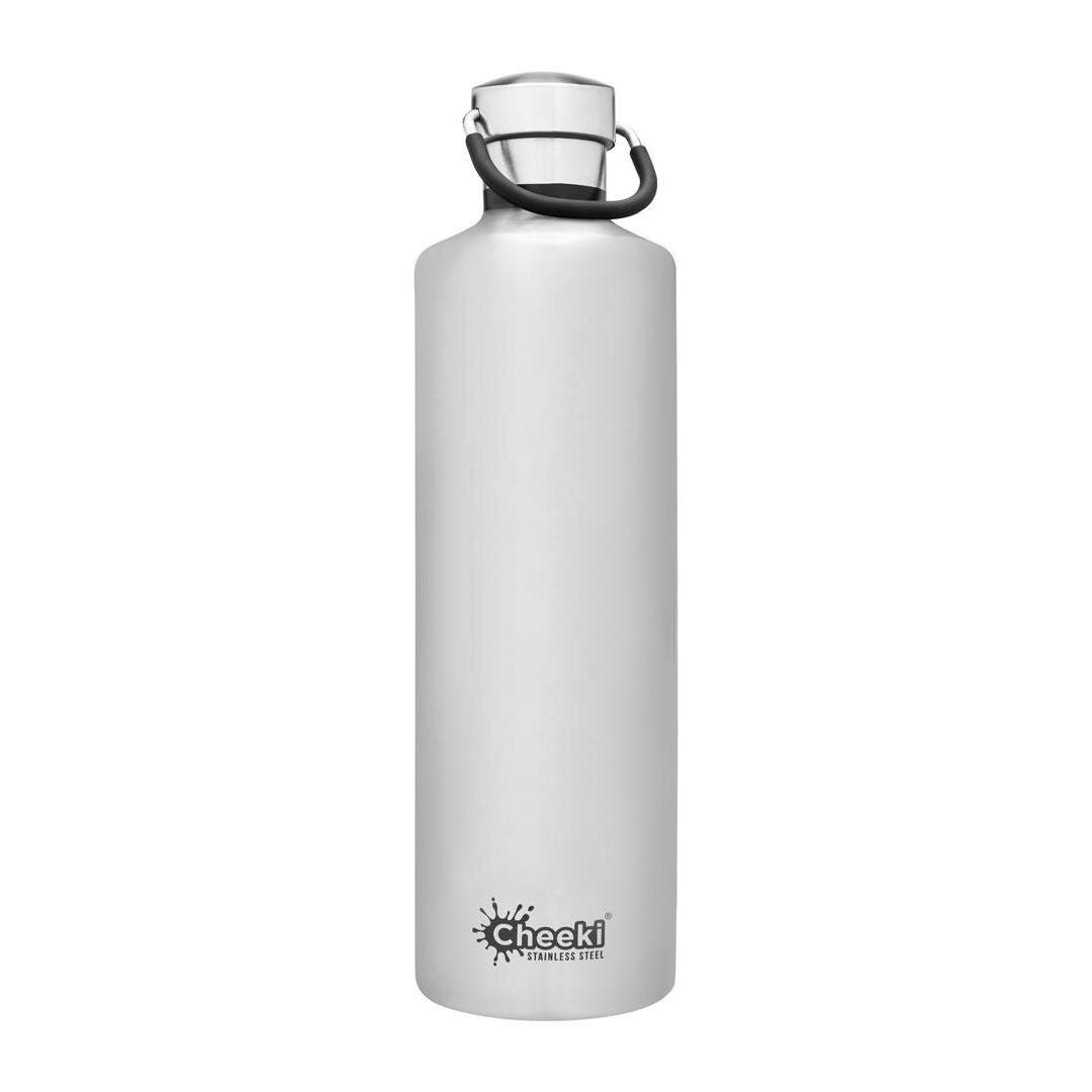 1 Litre Insulated Stainless Steel Cheeki Classic - Brushed Steel