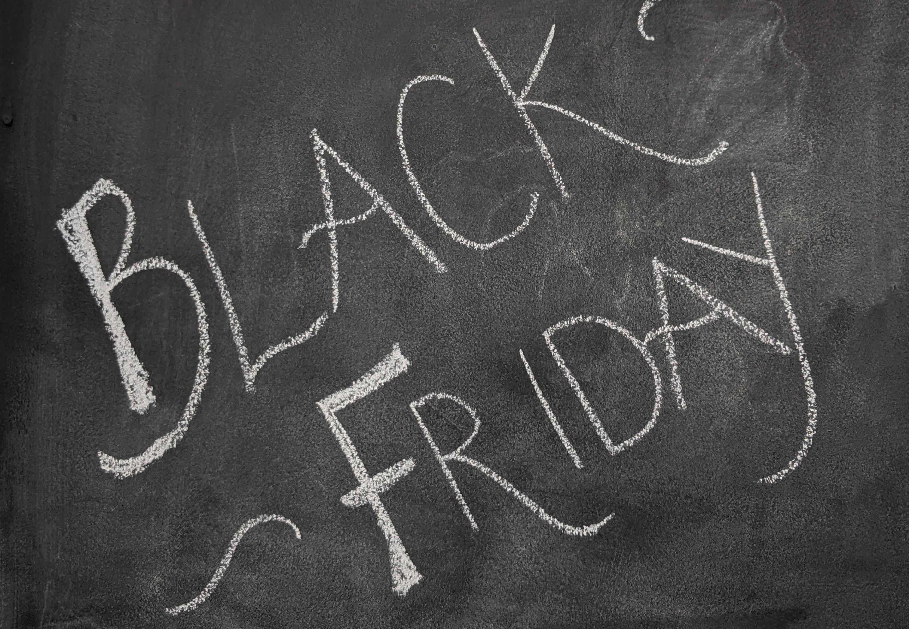 Black Friday written in chalk