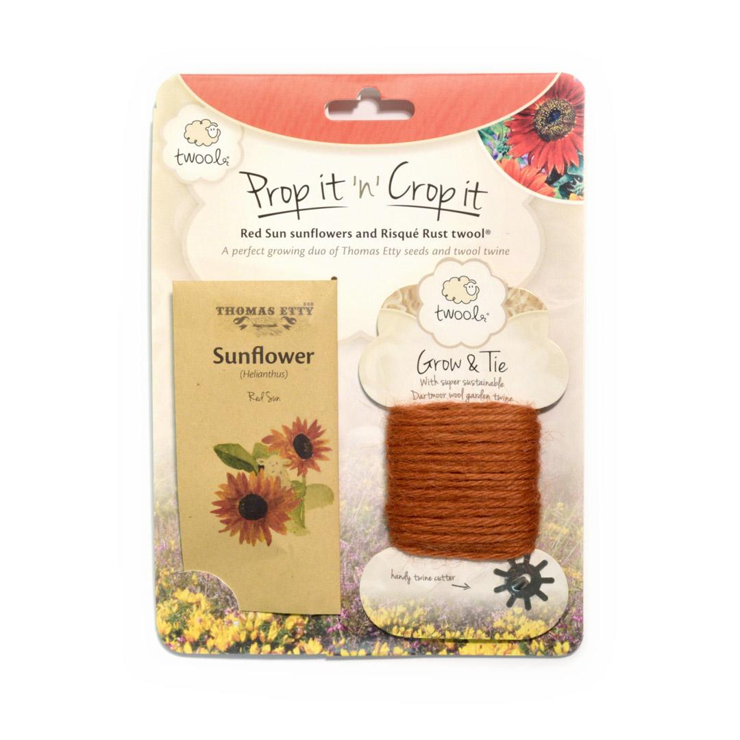 Prop it 'n' Crop it - Red Sun Sunflower & Rust Twool