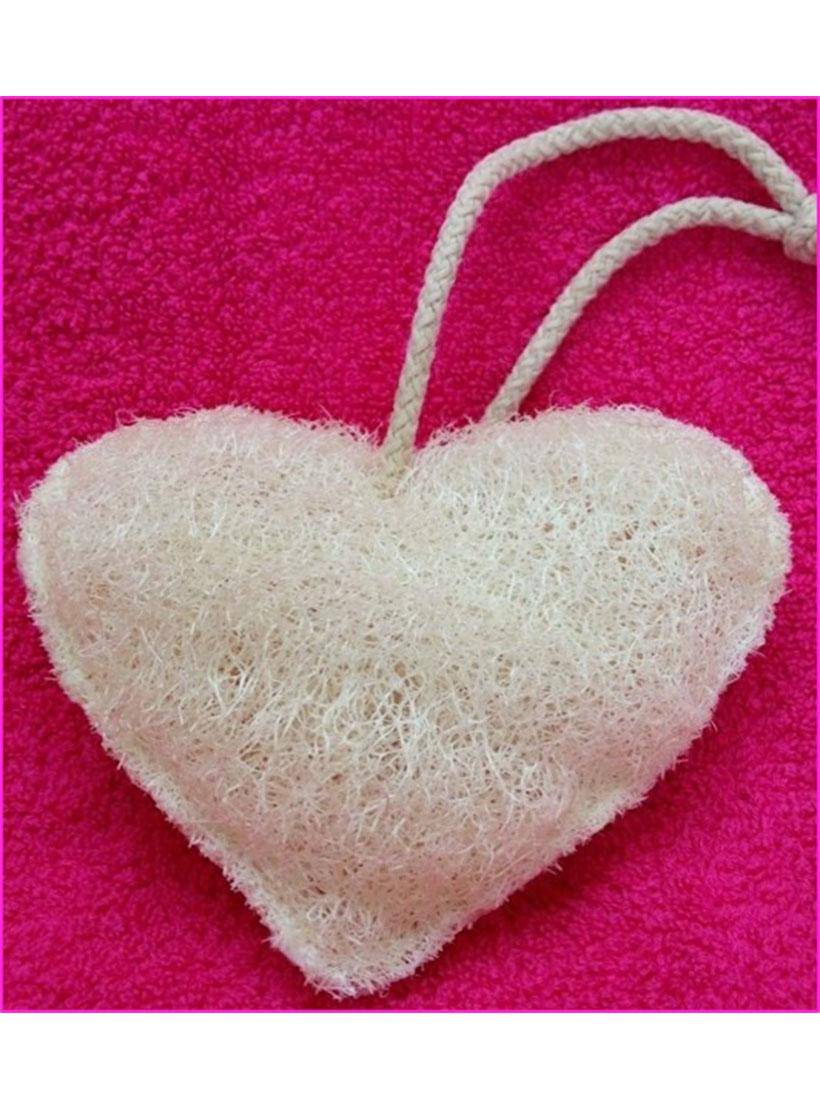 heart shaped body loofah