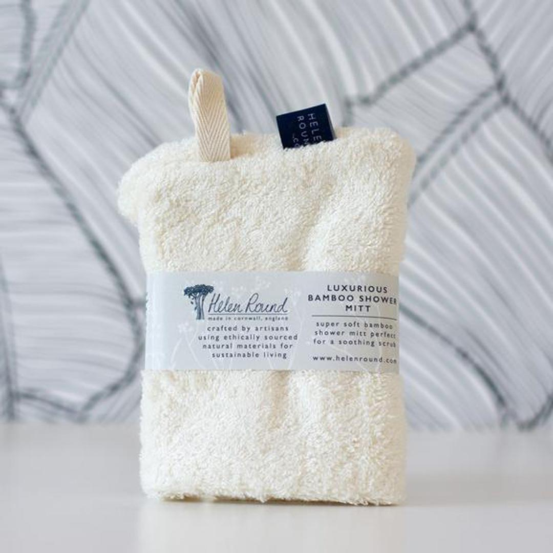 Bamboo Shower Mitt wrapped