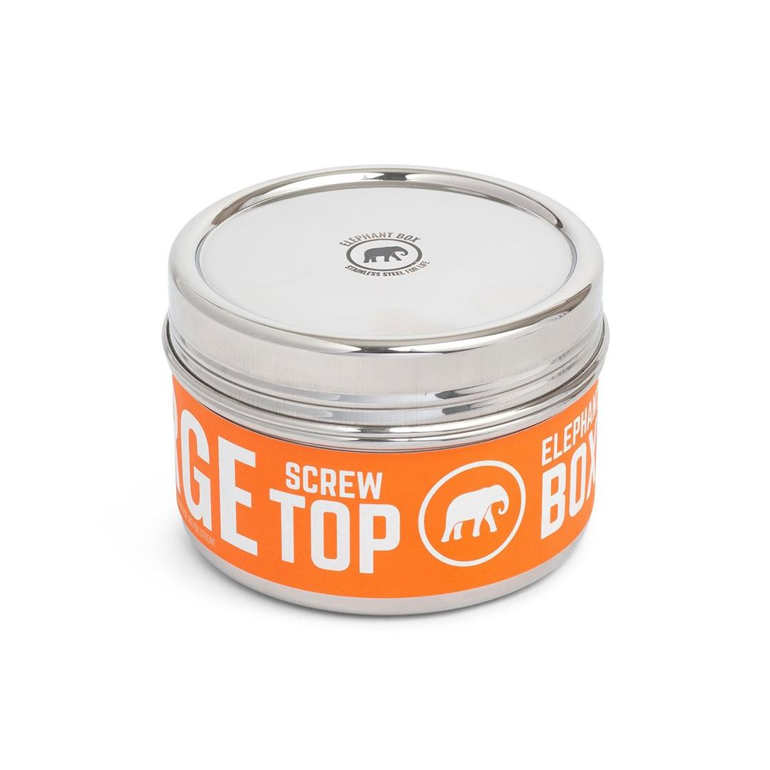 Elephant Box Twist Stainless Steel canister - Round 500ml