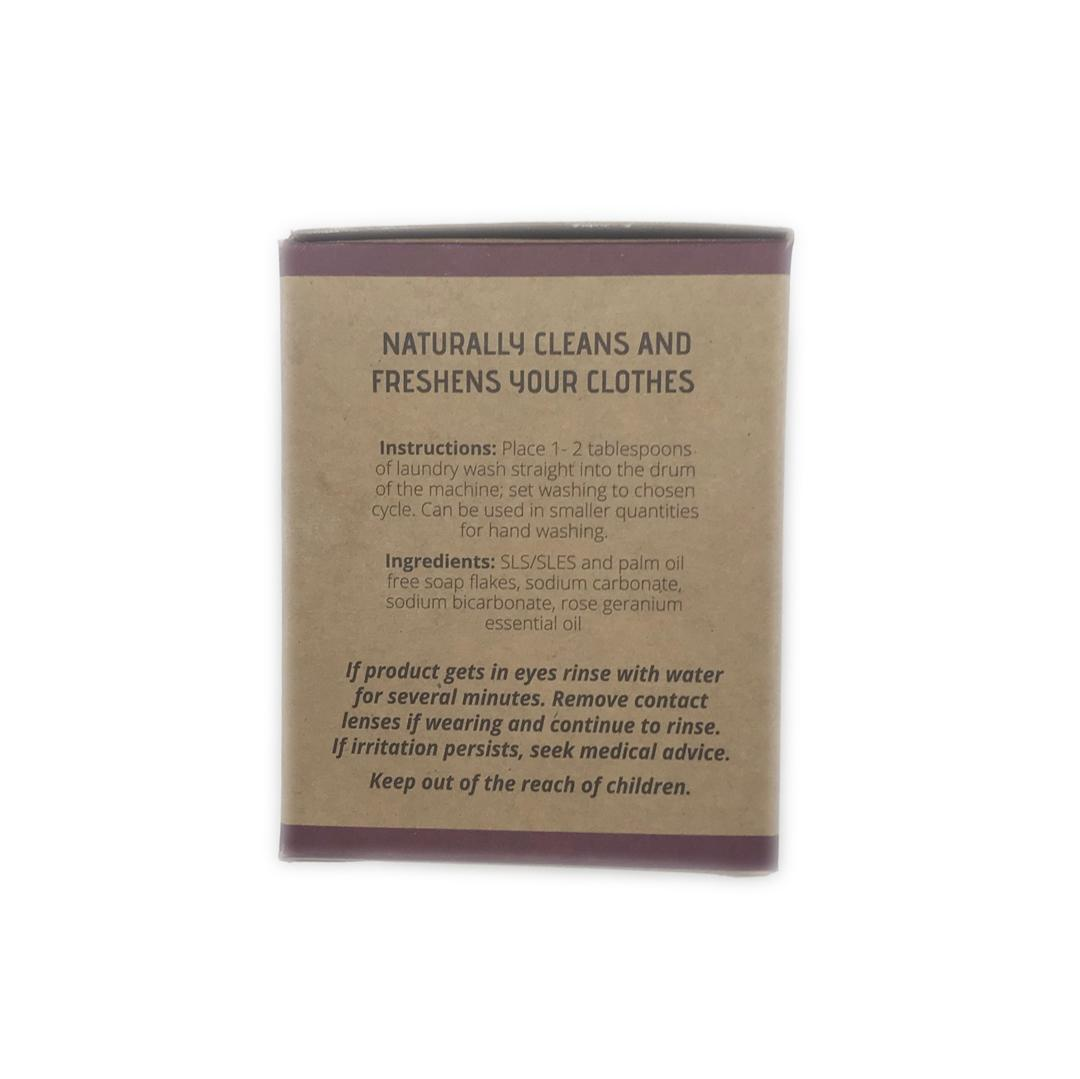 Natural Laundry Powder - Rose Geranium - 500g