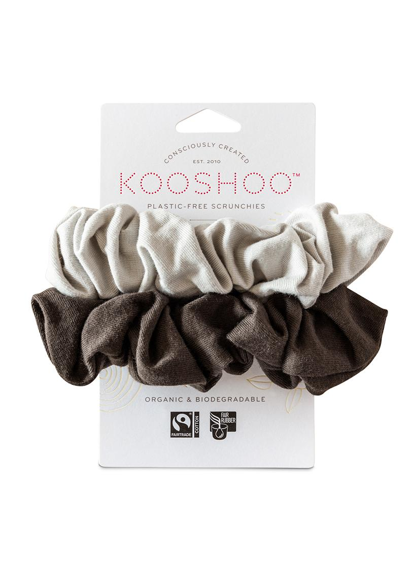 Organic Plastic Free Scrunchies - Pack of 2 - Moon Shadow