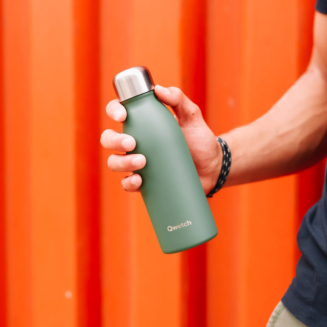 Stainless Steel ONE Bottle - Granite - Khaki - 500ml in hand