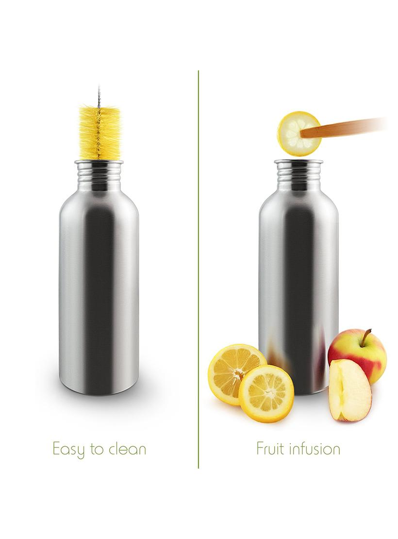 1 Litre Stainless Steel Water Bottle - Bambaw liquid example