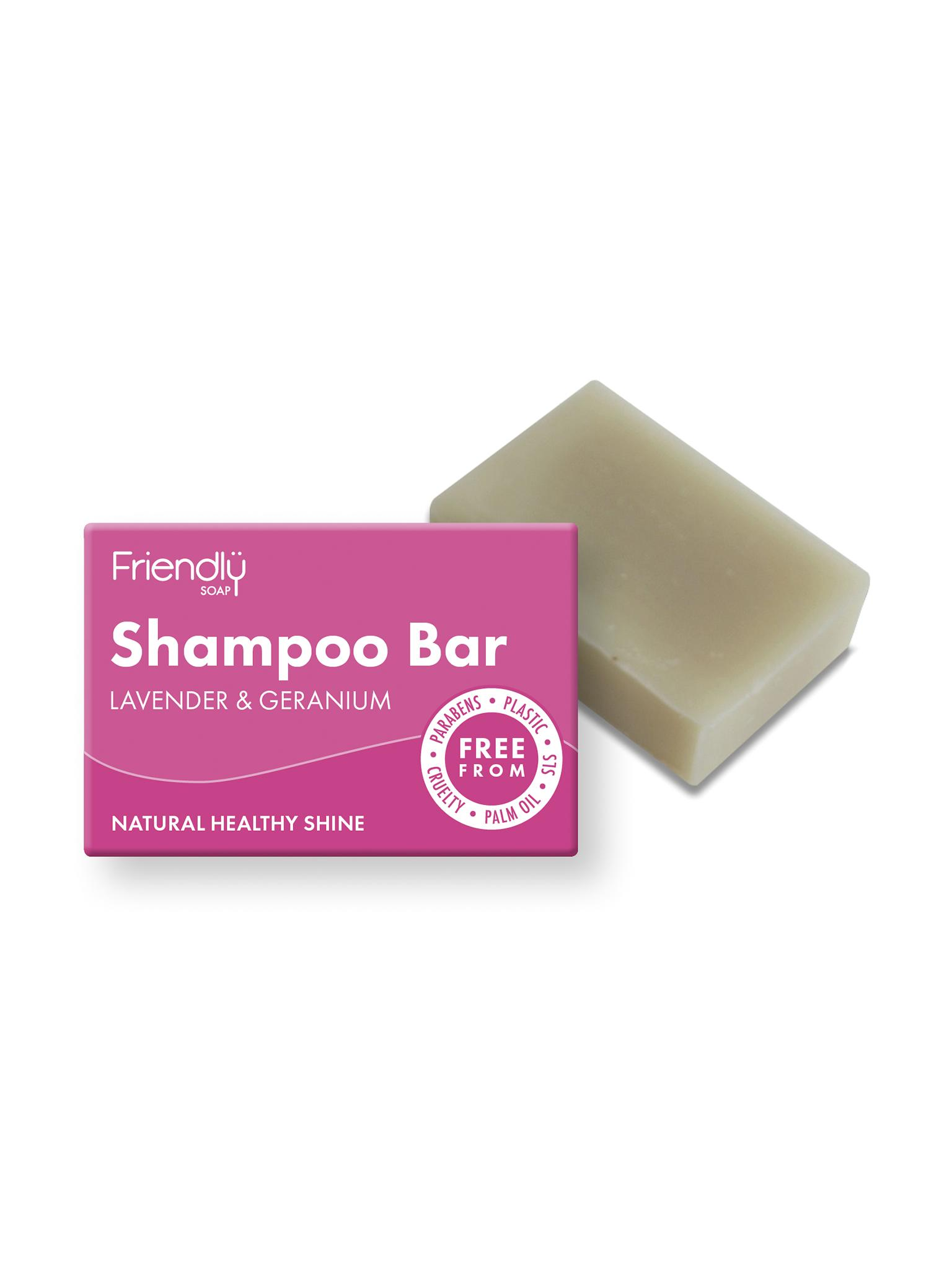 Friendly Soap - Lavender & Geranium Shampoo Bar