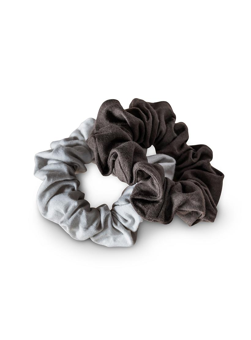 Organic Plastic Free Scrunchies - Pack of 2 - Moon Shadow no pack