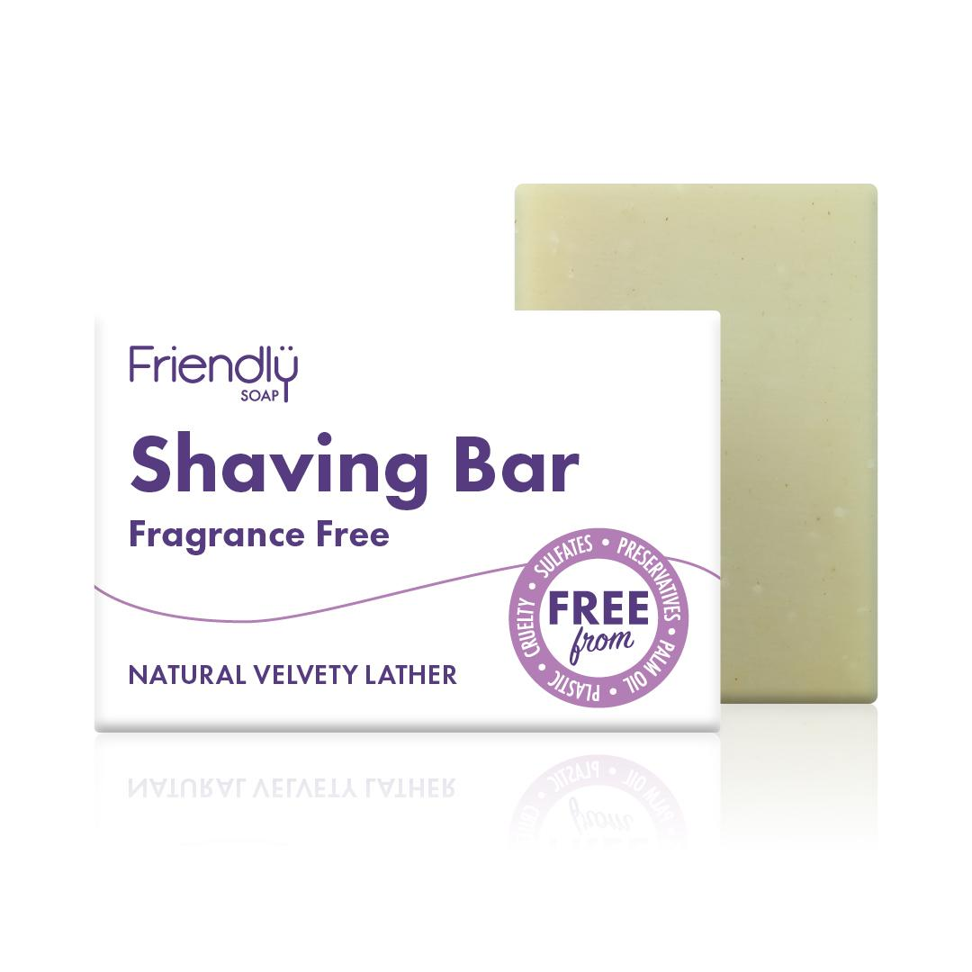 Friendly Soap - Fragrance Free Shaving Soap with box