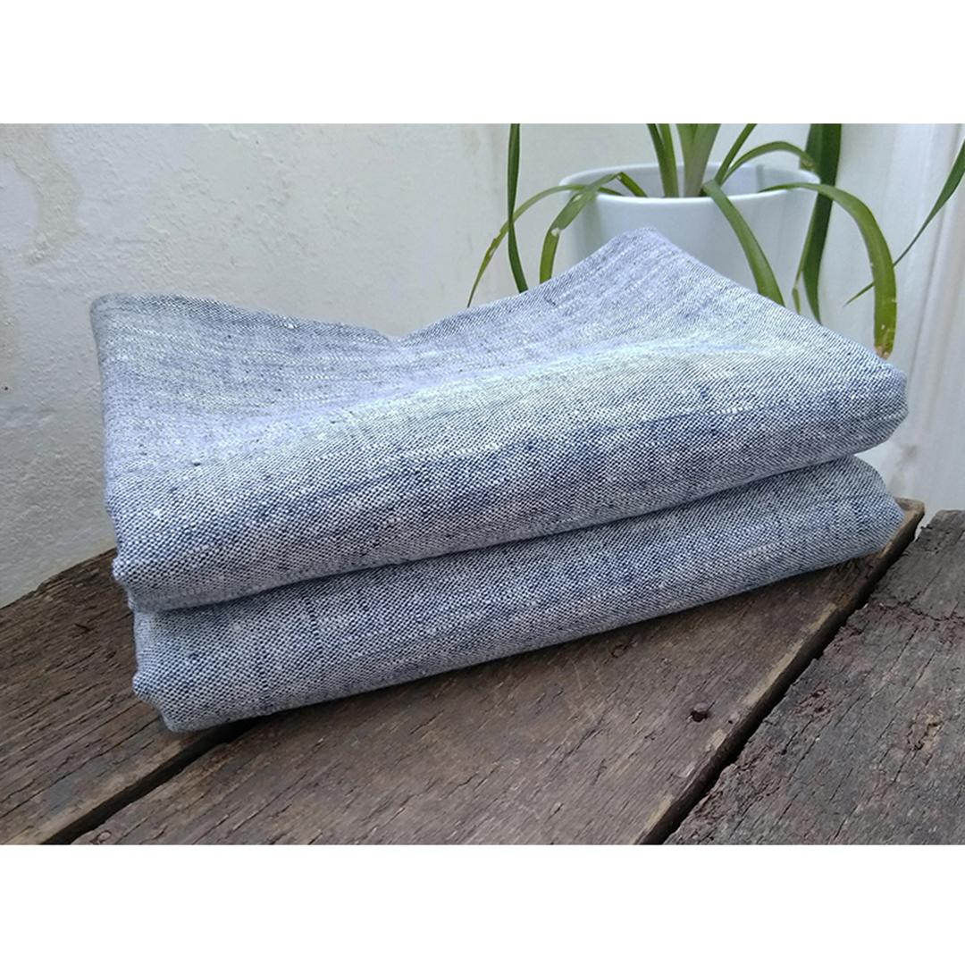 100% Linen Beach/Bath Towel - Francesca Indigo