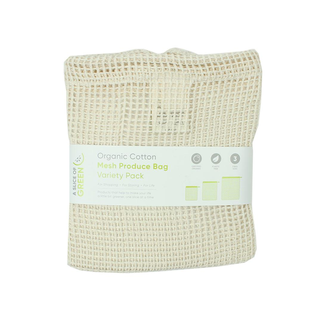 Cotton mesh variety bag folded