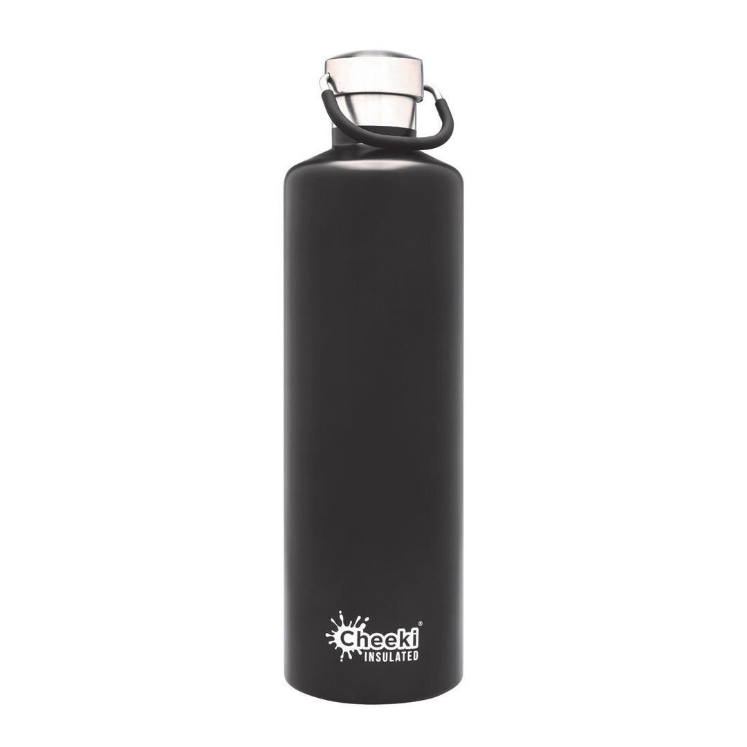 1 Litre Insulated Stainless Steel Cheeki Classic - Black
