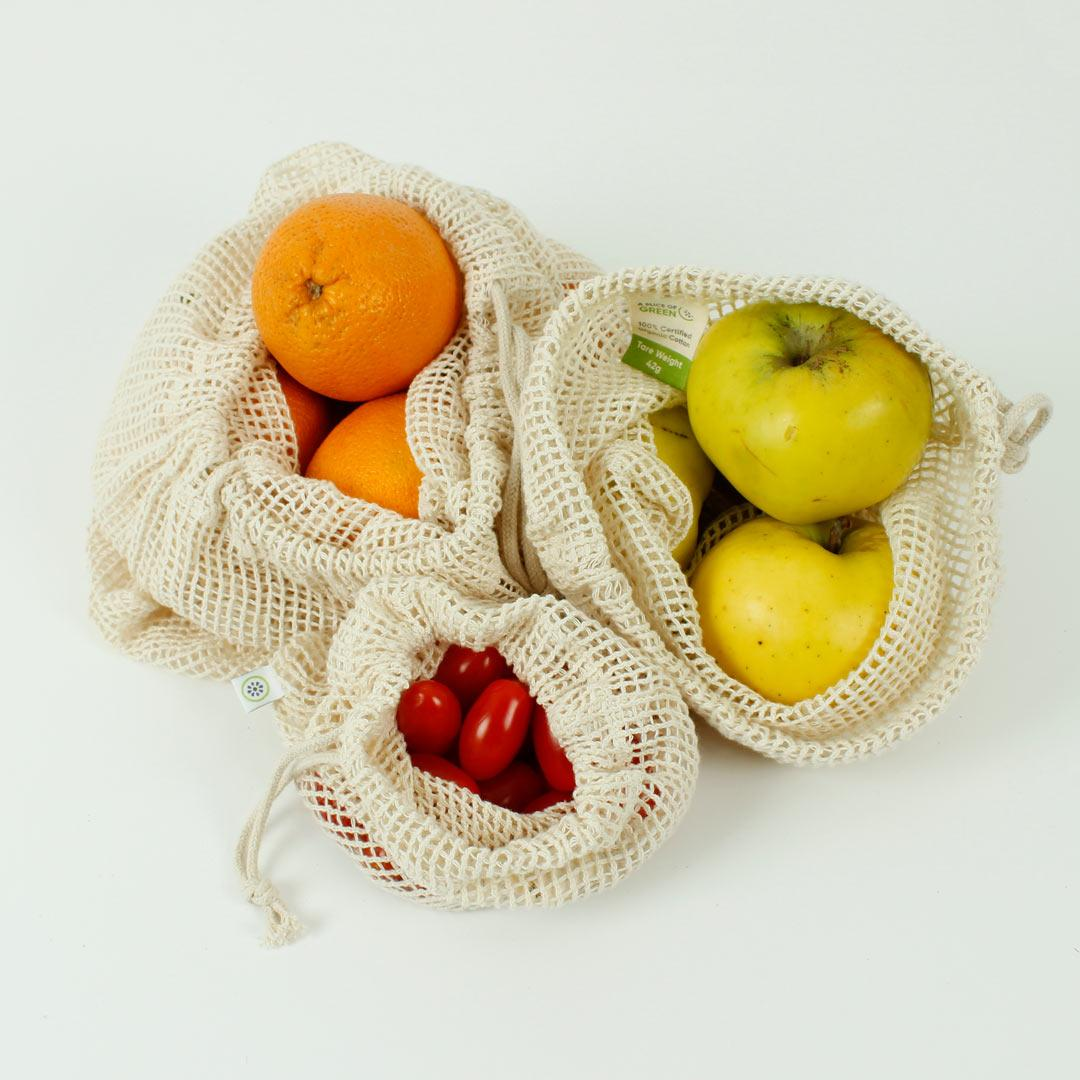 Organic Cotton Mesh Produce bags in use
