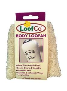 body loofah in loofco packaging