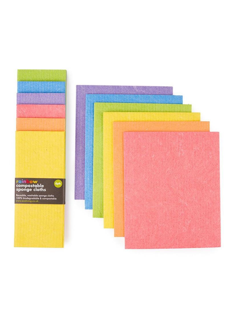 Compostable Sponge Cleaning Cloths - Rainbow