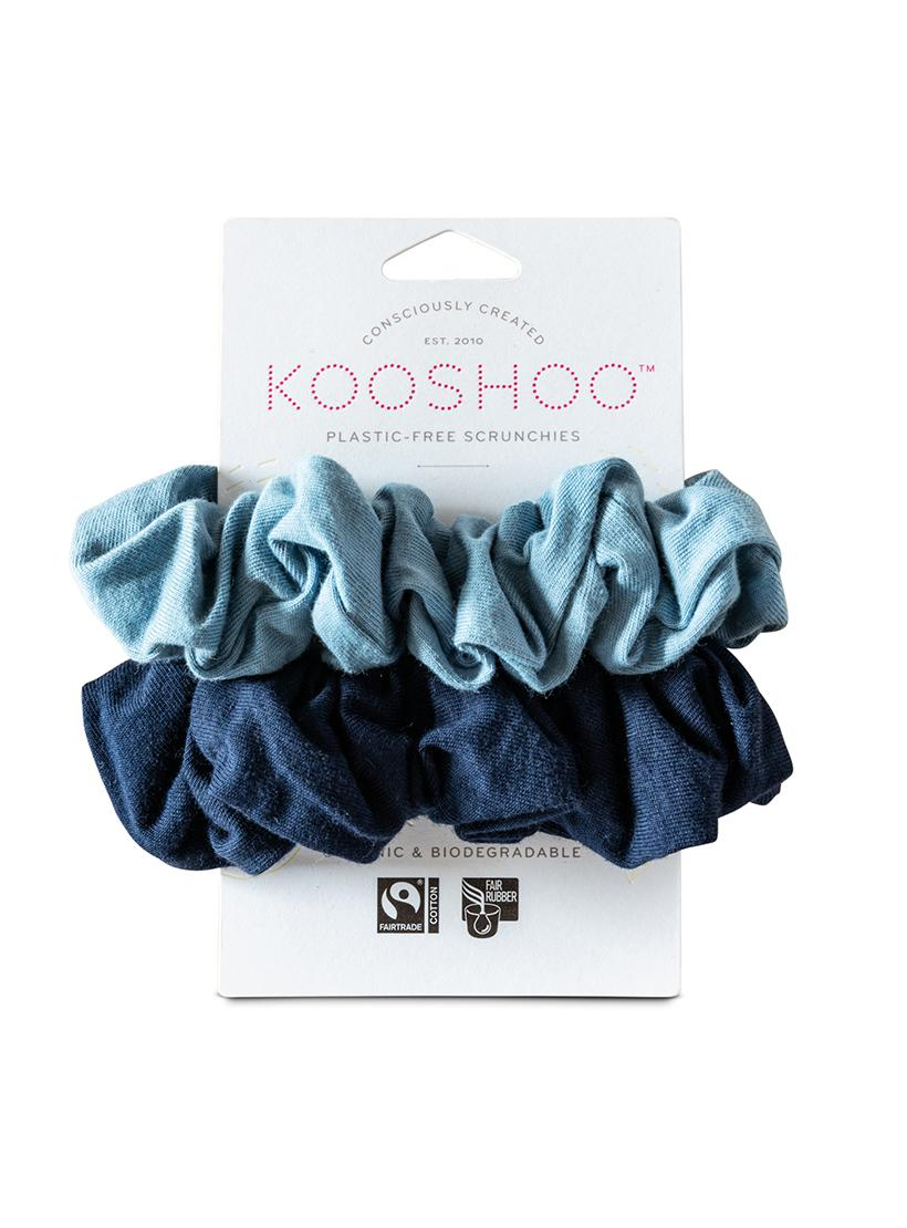 Organic Plastic Free Scrunchies - Pack of 2 - Evening Sky front