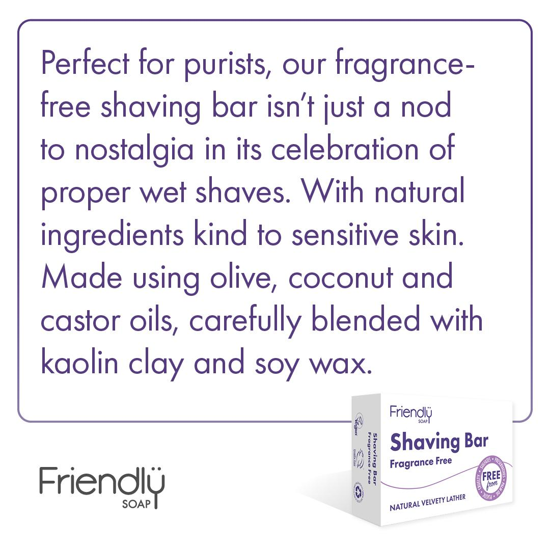 Friendly Soap - Fragrance Free Shaving Soap information