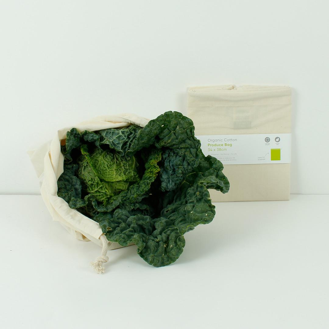 Organic Cotton Produce Bag - Small, Medium or Large - Pick Size