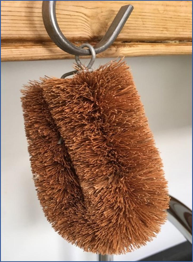 LoofCo dishwashing brush hanging up