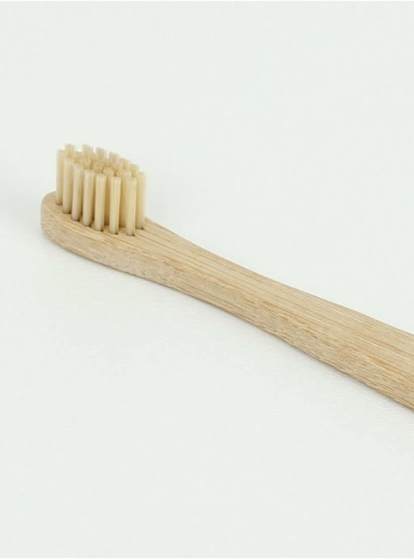 Extra Soft Bamboo 'Junior' toothbrush close up of bristles