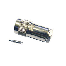 N Type Male Connector for RG-8 Mini 7mm Coax 1