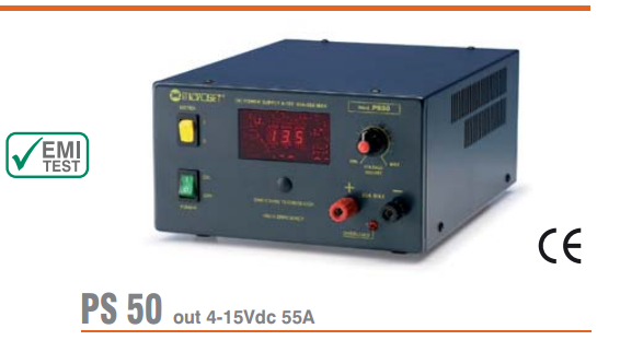 Microset PS-50 50 Amp Power Supply With Digital Display