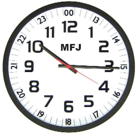 MFJ-126 12Hr Quartz Clock with 24Hr trim