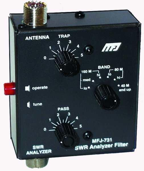 MFJ-731 Tunable RFI Filter for MFJ Antenna SWR Analyzers