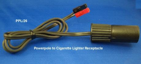PPL/26 - Powerpole to Cigarette Lighter Receptacle