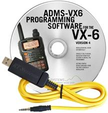 ADMS-VX6 Programming Software and USB-57B cable for the Yaesu VX