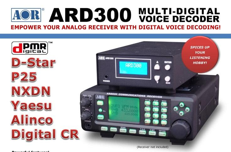 AOR ARD300 MULTI-DIGITAL VOICE DECODER