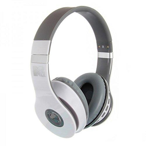 MTV Bluetooth Headphones - White/Grey