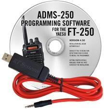 ADMS-250 Programming Software and USB-57A cable for the Yaesu FT