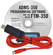 ADMS-350 Programming Software and USB-81 cable for the Yaesu FTM