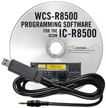 WCS-R8500 Programming Software and USB-RTS01 cable for the Icom