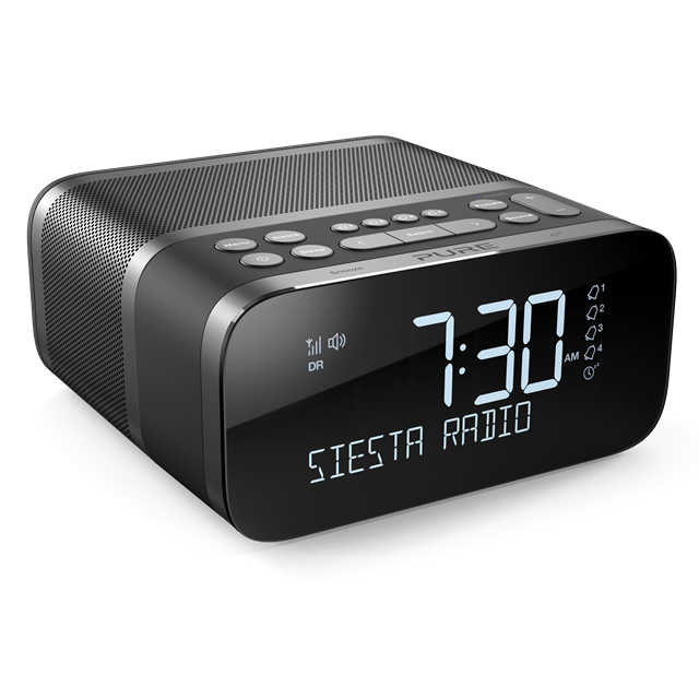 Siesta S6 DAB+ and FM Alarm Clock Radio with Bluetooth Graphite