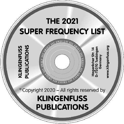 2021 Super Frequency List on CD