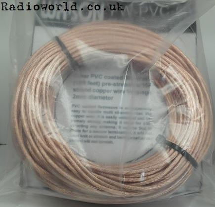FW-PVC-50 PVC Covered Multi Stranded Flexweave Copper Wire (sold