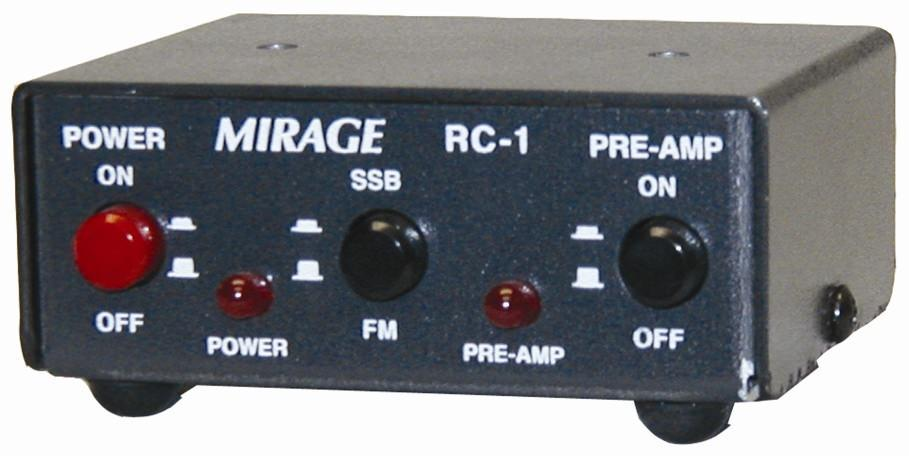 RC-1 Remote for Mirage amplifiers on/off power pre-amp SSB/FM