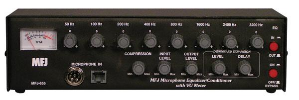 MFJ-655B - Deluxe Equaliser & Conditioner 8-band for Voice