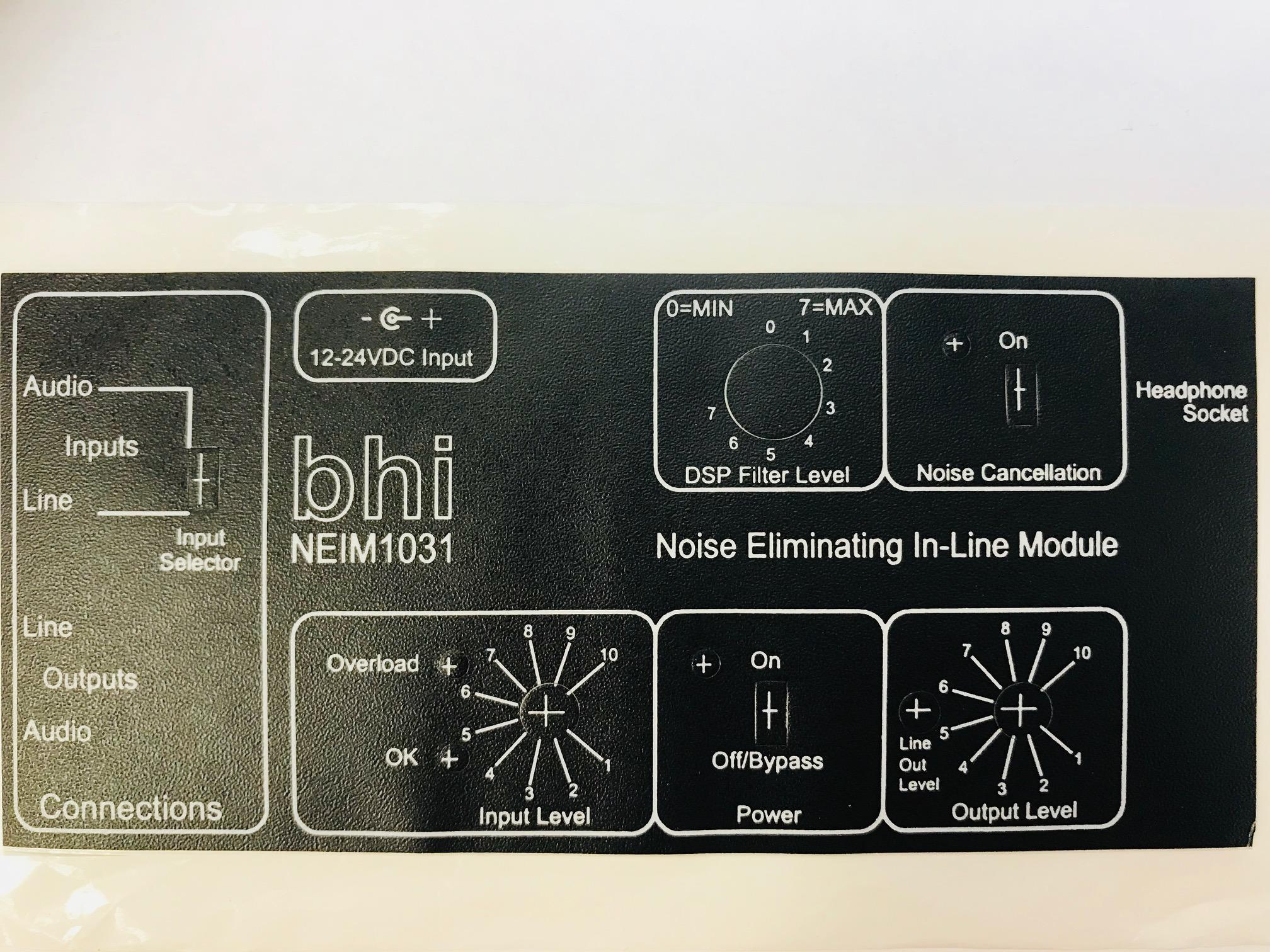 BHI 1031-108D HORIZONTAL LABEL FOR NEIM-1031