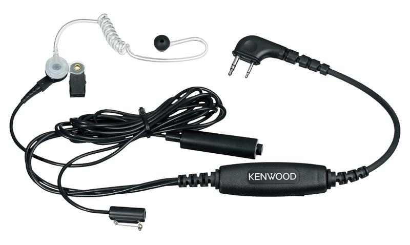 KENWOOD KHS-9BL 3 PIECE COVERT MIC KIT