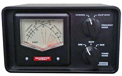 Diamond SX-240C 1.8-54MHz & 144-470MHz X needle 30W/300W/3KW