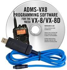 ADMS-VX8 Programming Software and USB-59 cable for the Yaesu VX-