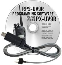 RPS-UV9R Programming Software and USB-K4Y for the Puxing PX-UV9R