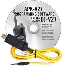 APK-V27 Programming Software and USB-57B cable for the Alinco DJ