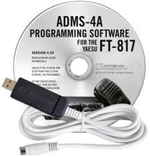 ADMS-4AU Programming Software and USB-62 cable for the Yaesu FT-