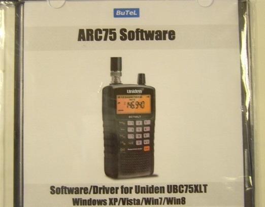ARC-75 Software For Uniden UBC-75XLT Hand Held Scanner