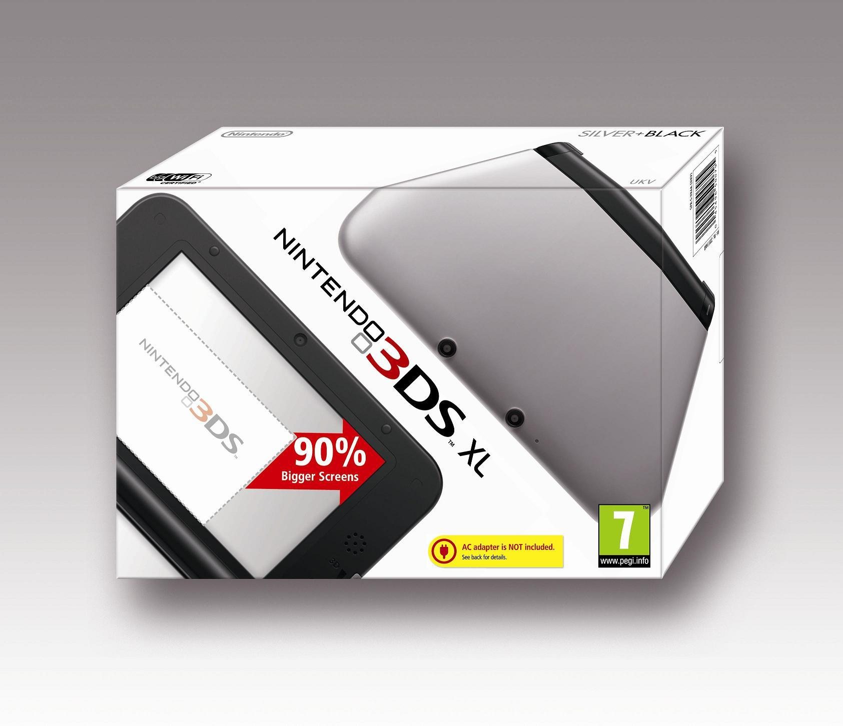 3DS XL Hardware Silver and Black 1