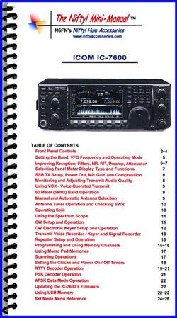 IC-7600 Nifty Mini Manual